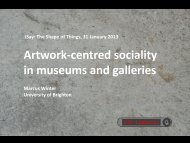 Artwork-centred sociality in museums and galleries