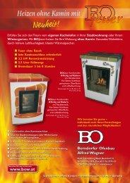Heizen ohne Kamin mit - Berndorfer Ofenbau