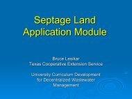 Septage Land Application Module