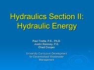 Hydraulics Section II Hydraulic Energy
