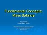 Fundamental Concepts Mass Balance