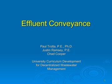 Effluent Conveyance