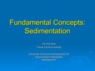 Fundamental Concepts Sedimentation