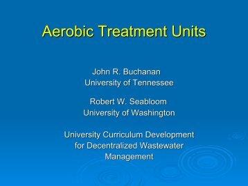 Aerobic Treatment Units