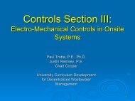 Controls Section III Controls Section III