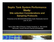 Site Selection Considerations for Septic Tank System Performance ...