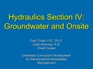 Hydraulics Section IV Groundwater and Onsite
