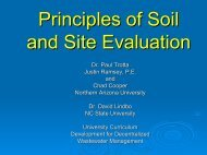 Principles of Soil and Site Evaluation