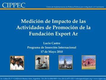 Medición de Impacto de las Actividades de Promoción de la Fundación Export Ar