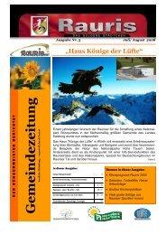 Rauris im Salzburger Land: Neue Dimensionen des