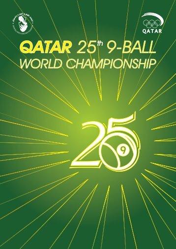 BOOKLET OF QATAR 25TH 9-BALL WORLD CHAMPIONSHIP