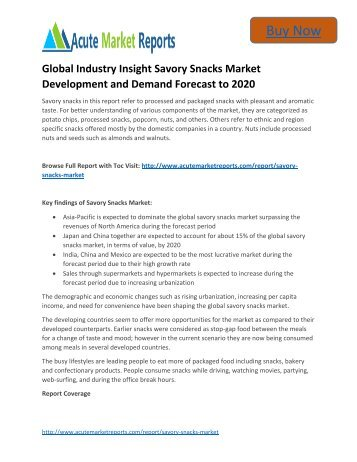 popular report future of the savory snacks Consumer trends analysis: understanding consumer trends and drivers of behavior in the uk savory snacks market is a market research report available at us $6320 for a single user pdf license from rnr market research reports library.