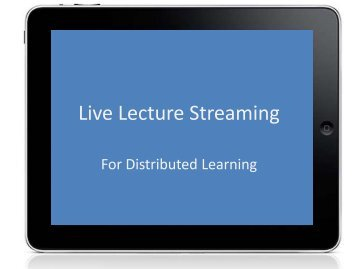 Live Lecture Streaming