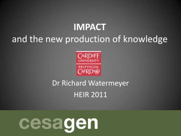 IMPACT and the new production of knowledge
