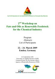 2 Workshop on Fats and Oils as Renewable Feedstock for ... - abiosus