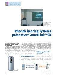Phonak hearing Systems präsentiert Smart Link (TM) SX