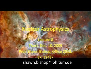Nuclear Astrophysics
