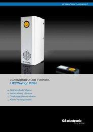Aufzugnotruf als Flatrate. LIFTDialog®.GSM - GS electronic Gebr ...