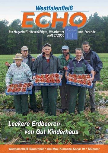 Leckere Erdbeeren von Gut Kinderhaus - Westfalenfleiß