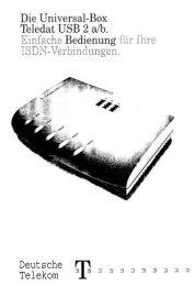 Bedienung von Teledat USB 2 a/b ...