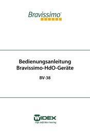 Bedienungsanleitung Bravissimo-HdO-Geräte - Widex