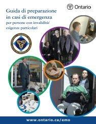 Guida di preparazione in casi di emergenza