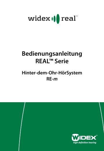 Bedienungsanleitung REAL™ Serie - Widex
