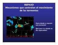 REPASO Mecanismos que controlan el movimiento de las tormentas