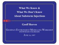 GEM Substorm Tutorial on Substorm Injections