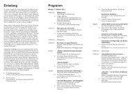 Einladung Programm - Tourismus NRW