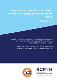 Why children die death in infants children and young people in the UK Part E