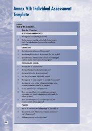 Annex VII Individual Assessment Template