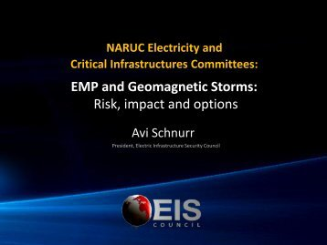 EMP and Geomagnetic Storms Risk impact and options
