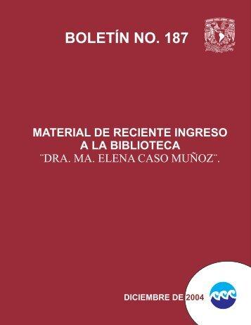 BOLETIN187-DICIEMBRE DE 2004 - Instituto de Ciencias del Mar y ...