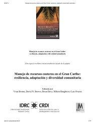 Manejo de recursos costeros en el Gran Caribe: resiliencia ...