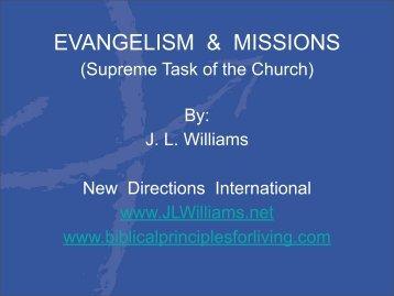 EVANGELISM & MISSIONS