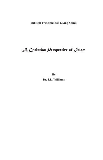 A Christian Perspective of Islam