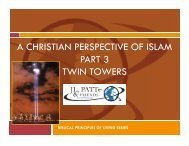 A CHRISTIAN PERSPECTIVE OF ISLAM PART 3 TWIN TOWERS