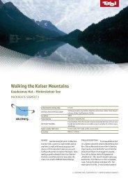 Walking the Kaiser Mountains Gaudeamus Hut - Hintersteiner ... - Tirol