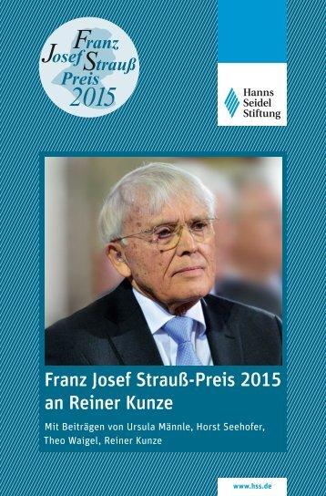 Franz Josef Strauß 2015