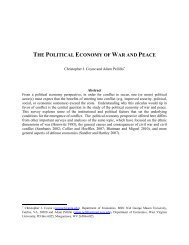 THE POLITICAL ECONOMY WAR PEACE
