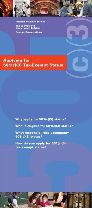 Applying for 501(c)(3) Tax-Exempt Status