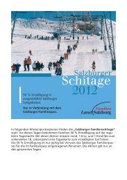 Salzburger Familienskitage