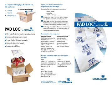 n More cost-effective than custom-formed packaging n ... - Storopack