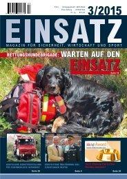 EINSATZ, Magazin für Sicherheit, Wirtschaft und Sport