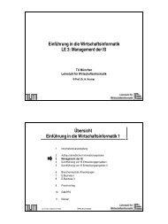 WinfoI_LE03.pdf - Lehrstuhl für Wirtschaftsinformatik