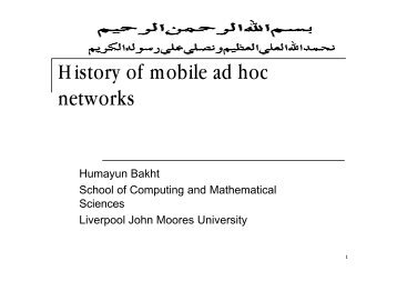 History of mobile ad hoc networks - OoCities