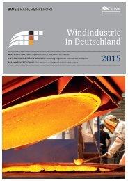 BWE Branchenreport - Windindustrie in Deutschland 2015