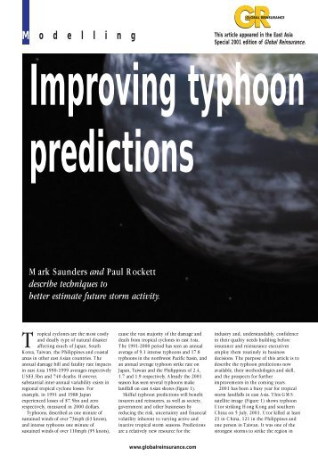 Improving typhoon predictions