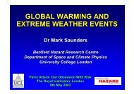 GLOBAL WARMING AND EXTREME WEATHER EVENTS